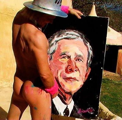 Bush sendo esporrado...af!